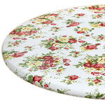Country Rose Elasticized Vinyl Table Cover by Chef's Pride