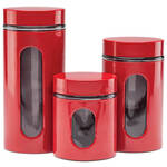 3 Piece Metal Food Canister Set by Home Marketplace
