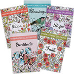 Inspirational Coloring Books, Set of 5