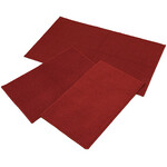 Rugby Solid Colored Rug by Oakridge®, Brick Set of 3