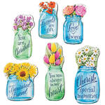 Floral Mason Jar Magnets, Set of 6