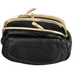 Dual Clasp Leather Coin Purse