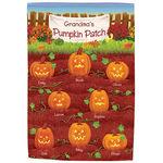 Personalized Pumpkin Patch Garden Flag
