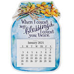 Mason Jar Large Magnetic Calendar