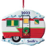 Personalized Vintage Camper Ornament