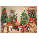 Personalized Vintage Christmas Calendar Gift Card Set of 20