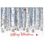 Personalized Snowy Birch Christmas Cards Set of 20