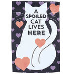 Spoiled Cat Lives Here Garden Flag