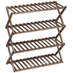 Fir Wood Folding Shoe Rack