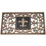 Hide A Key Doormat with Fleur-de-lis Insert