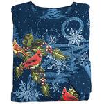 Winter's Evening Cardinal 3/4 Sleeve Top