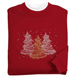 Embellished Winter Tree Scene Sweatshirt by Sawyer Creek™