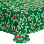 Holly Holiday Vinyl Tablecover