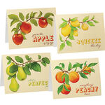Cute Fruit Note Cards, Set of 20