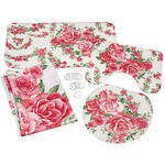 Rose Bouquet 4pc Bathroom Collection
