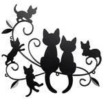 Cats & Kittens Black Metal Wall Decor