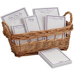 Personalized Basketful of Notes with Bible Quotes