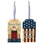 Primitive Patriotic Wall Tags by Holiday Peak™, Set of 2