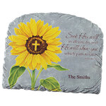 Personalized Sunflower Proverbs 3:6 Garden Stone