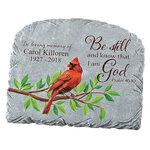Personalized Cardinal Memorial Garden Stone
