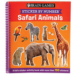 Brain Games® Sticker By Number ™ Safari Animals