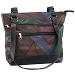 Patch Leather Tote Bag