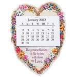 Large Heart Wreath Magnet Calendar