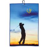 Personalized Vertical Silhouette Microfiber Golf Towel