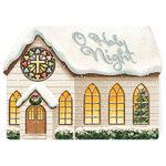 Die Cut Chapel Christmas Card Set of 20