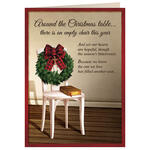 The Empty Chair Christmas Card Set of 20