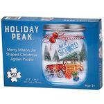 Merry Mason Jar Shaped Christmas Puzzle by Holiday Peak™