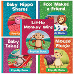 Baby Animals Pop-Up Books, Set of 5
