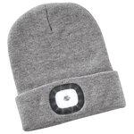 Rechargeable LED Light Knit Hat