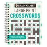 Brain Games® Swirls Design Large Print Crossword Puzzles