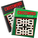 Crossword Puzzle Spiral Books, Vol. 1 and 2, Set of 2