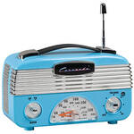 Blue Vintage AM/FM Radio