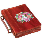 Personalized Floral Initial Brown Bible Case